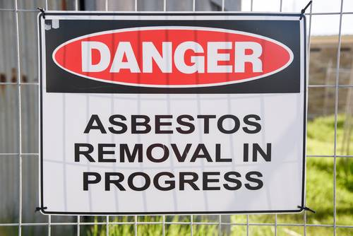 asbestos software removal sign